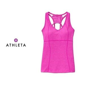 Athleta | Pink Equator Racerback Tank Built in Bra